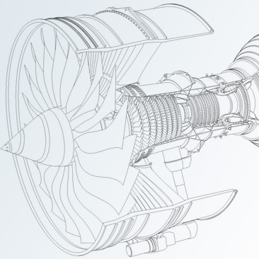 CapaciSence Trent Turbine cut-away illustration