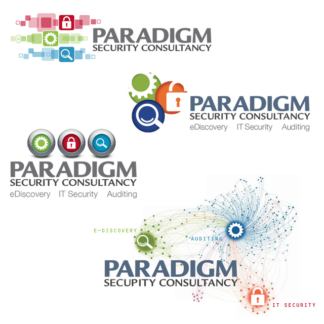 paradigm security consultancy identity visuals
