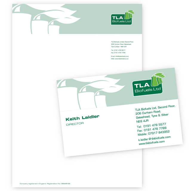 tla biofuels stationery