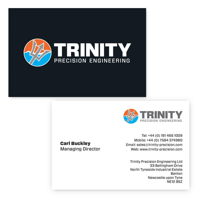trinity precision business card